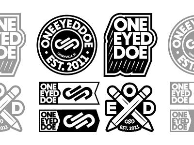 OneEyedDoe Brand Bundle badge vanguard typography thick graphic bold apparel logotype brand identity brand design bundle merch brand logo brandlogo branding brand logo design logodesign logo