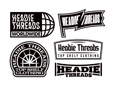 Headie Threads Brand Bundle cannabis weed brand identity brand design custom logo bold skate apparel vanguard brand logo logo design merch type logotype badge logodesigner logodesign branding logo