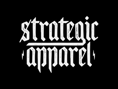 Strategic Apparel Wordmark apparel merch brand logo hardcore strategic vanguard black metal dark goth custom type customtype custom typography type logotypes logotype branding brand logo
