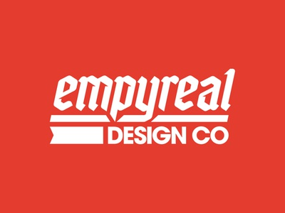 Empyreal Badge Designs vanguard logodesigner logodesign brand logo brand identity brand design apparel merch patch badge logotype custom typography type logo design branding brand logo