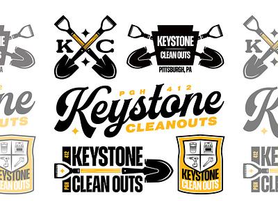 Keystone Clean Outs vanguard logos apparel merch flash pack illustration vintage clean bold brand typography custom cursive script logotype badge logodesign branding logo