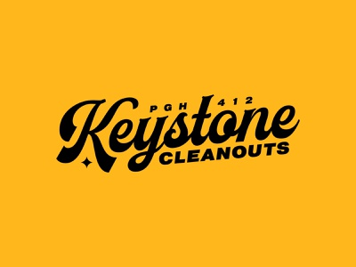 Keystone Clean Outs - Wordmark identity brandidentity apparel merch logodesign vanguard wordmark word vintage clean bold typedesign typography type logotype branding brand logos logo