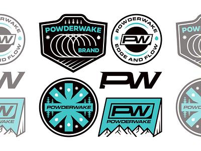 Powderwake Bundle business monogram vanguard outdoors nature patch sports sport surf package kit bundle logotype typography type badge logos logodesign branding logo