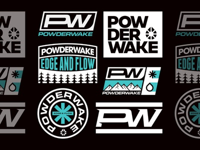 Powderwake Brand Bundle bundle nature vanguard wordmark logotype type vintage clean bold sports sport apparel merch patch badge branding brand logos logo design logo