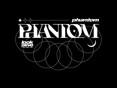 PHANTOM Wordmark set vanguard logodesign minimal skate punk bold apparel merch custom lettering type typography logotype branding brand logos logo