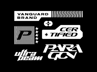 PARAGON Pack brand design kit bundle vanguard bold tee apparel merch identity brand identity branding brand logos logo