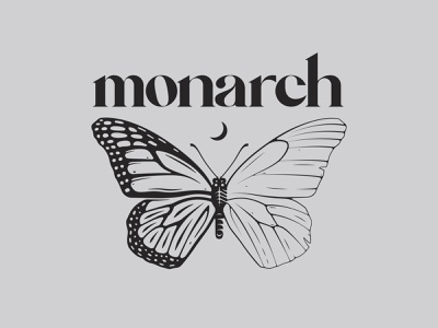 MONARCH - Invent Animate branding vanguard punk dark custom typography drawing butterfly illustration blanket invent metalcore metal monarch apparel merchandise band merch logos logo