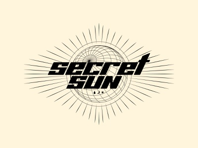 SECRET SUN - Invent Animate type logotype typography designer jacket band music illustration vanguard invent shirt punk rock metalcore metal apparel merchandise merch