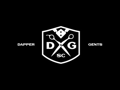 Dapper Gents Social Club badge barber vanguard simple modern strong bold apparel merch lettering word typography type logotype identity branding brand logos logo