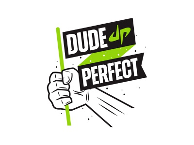 DUDE PERFECT // Apparel strong bold illustration extreme youth shirt apparel vanguard perfect dude flag loud modern clean sports merch branding