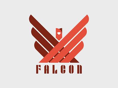 FALCON typography type joschmi contest adobehiddentreasures bauhaus clean logo bird falcon