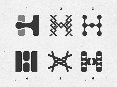 Letter H exploration typography letterh branding hlogo logomark lettermark letter logo