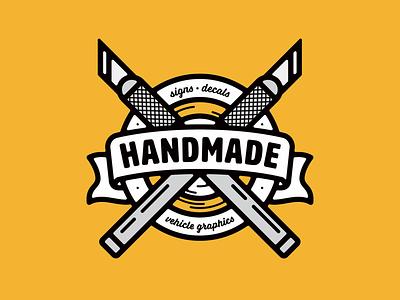 Handmade Badge brandidentity logomark vanguarddesignco logoinspirations logobrand handmade patchdesign patch graphic badgedesign branding badge logo