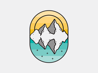 Mountain Reflection Badge