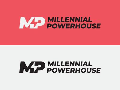 Millennial Powerhouse brandidentity branding clean montserrat vanguarddesignco letters logotypes logotype monogramlogo monogram lettermark type logo
