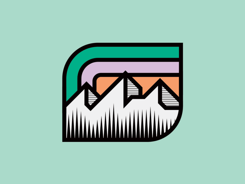 Mountain Badge illustrator logodesigner logoinspirations brandlogo outdoors outdoor nature vanguarddesignco mountainpatch patch logoconcept mountainlogo mountainbadge mountain badgedesign badge logo