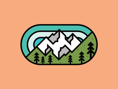 Mirror Mountain Badge