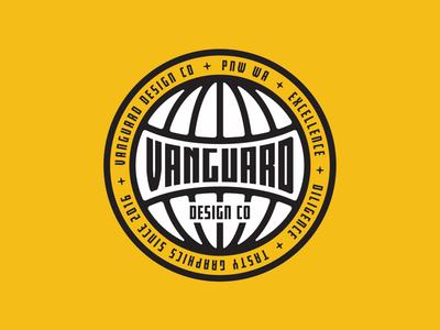 Vanguard Globe Badge branddesigner brandlogo merchdesign stickerdesign branddesign brandidentity branding brand globe patchdesign patch logodesigner vanguarddesignco logodesign logo badgedesign badge
