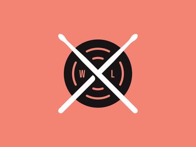Wolf + Love Badge banddesign bandmerch drumsticks bandlogo band vanguarddesignco patchlogo logoinspirations logodesigner circlebadge circle branding branddesigner brandidentity badgelogo badgedesign badge