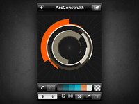 ArcConstrukt color palette tools & radial grid view
