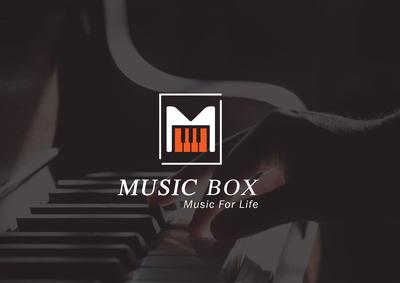 Music Box Logo Design
