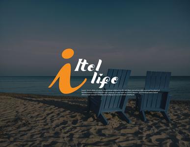 i- Itel life Beach Logo Design