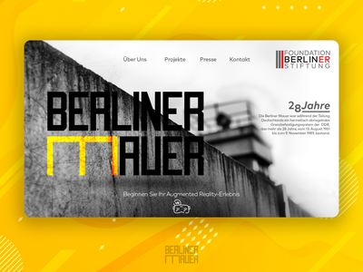 Berliner Mauer - VR Tour Welcome Page