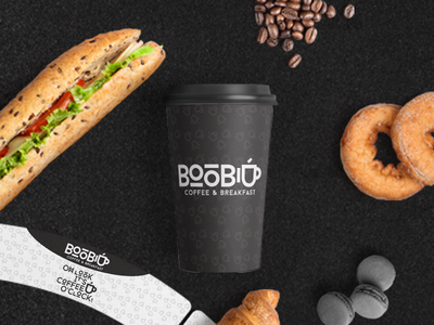 BooB Coffee & Breakfast - Corporate Identity Design