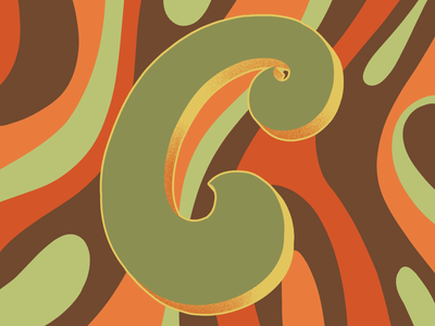 36days of Type C 70sdesign 70sscript 36daysoftype hand drawn type graphic designer lettering illustrator typography hand lettering illustration