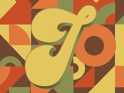 36 Days of Type J 70sdesign 70sscript 36daysoftype07 36daysoftype script lettering hand drawn type graphic designer lettering illustrator typography hand lettering illustration