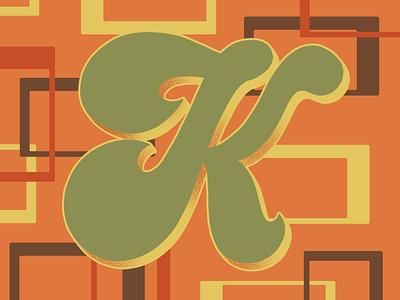 36 Days of Type K 36daysoftype07 36daysoftype 70sdesign 70sscript script lettering hand drawn type graphic designer lettering illustrator typography hand lettering illustration