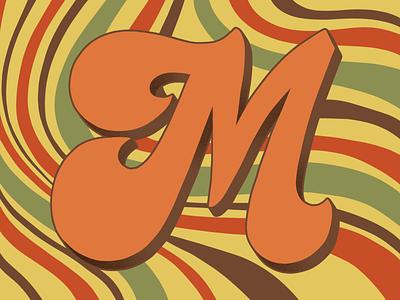 36 Days of Type M 70sdesign 70sscript 36daysoftype script lettering hand drawn type graphic designer lettering illustrator typography hand lettering illustration