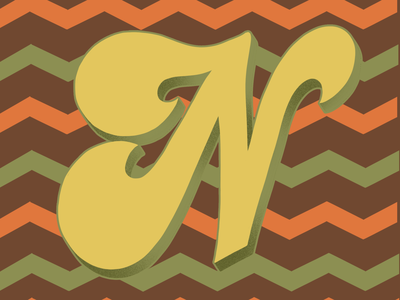 36 Days of Type N 36daysoftype07 70sdesign 70sscript 36daysoftype script lettering hand drawn type graphic designer lettering illustrator typography hand lettering illustration