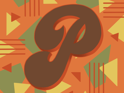36 Days of Type P 36daysoftype 36daysoftype07 70sscript 70sdesign script lettering hand drawn type graphic designer lettering illustrator typography hand lettering illustration