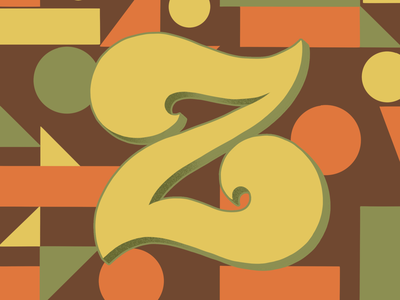 36 Days of  Type Z 36daysoftype07 70sdesign 70sscript 36daysoftype script lettering hand drawn type graphic designer lettering illustrator typography hand lettering illustration