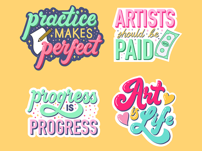 Homwork Challenge: Stickers stickers script lettering hand drawn type graphic designer illustrator typography illustration handlettering lettering laurenhom homwork