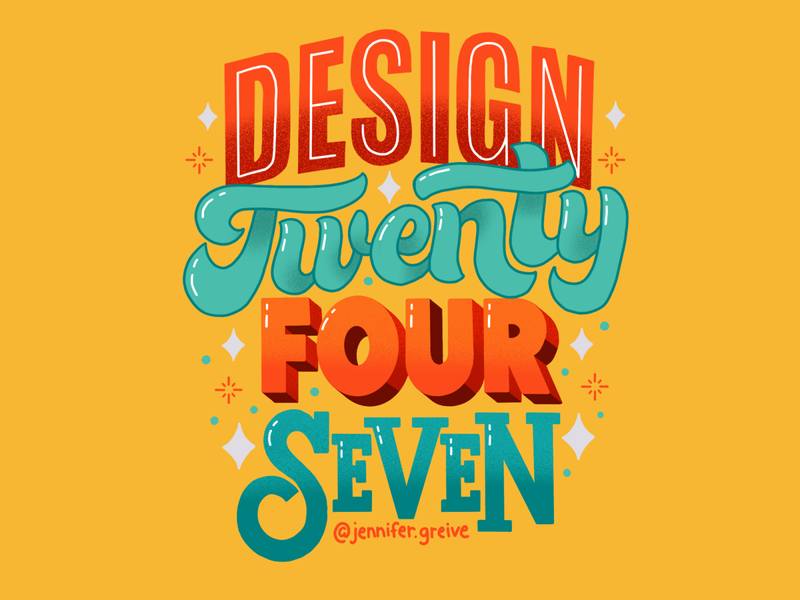 Design Twenty Four Seven graphic designer illustrator procreate digtal art typography hand drawn type hand lettering lettering illustration
