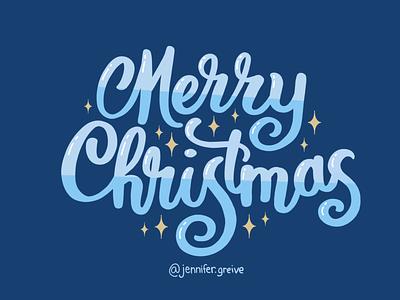 Merry Christmas Lettering T-shirt hand drawn type digital art typogaphy happy holidays merry christmas christmas holiday script lettering hand lettering art hand lettering