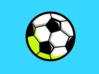 Soccer Ball Illustration Icon