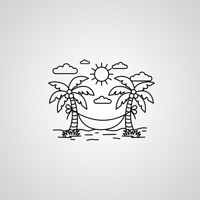 Dribbble - summer_vacation_hammock_icon png by Jennifer Greive