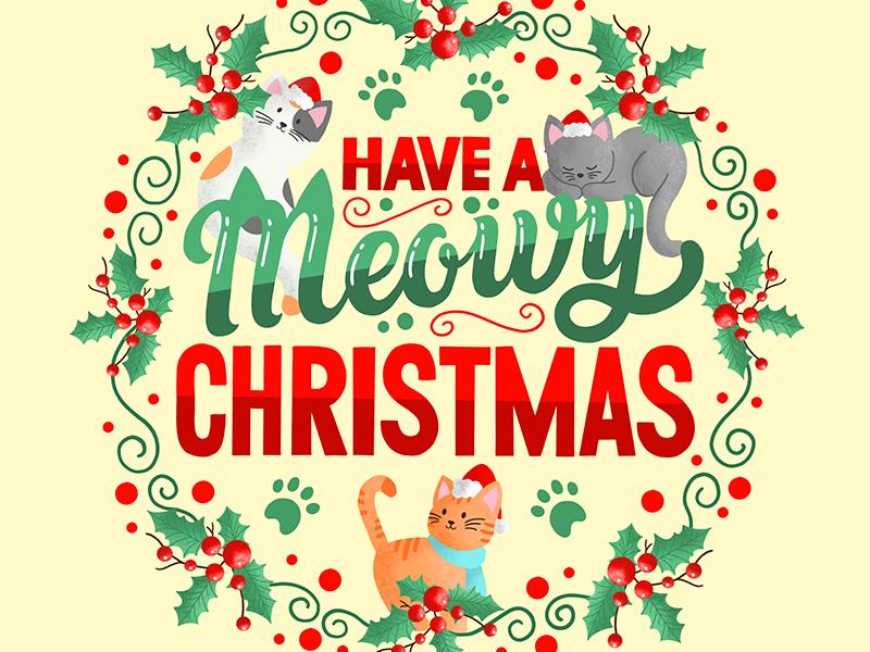 Meowy Christmas.Homwork 46 Meowy Christmas By Jennifer Greive On Dribbble
