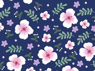 Cherry Blossom Pattern design flower cherry blossom pattern design pattern repeat pattern illustration