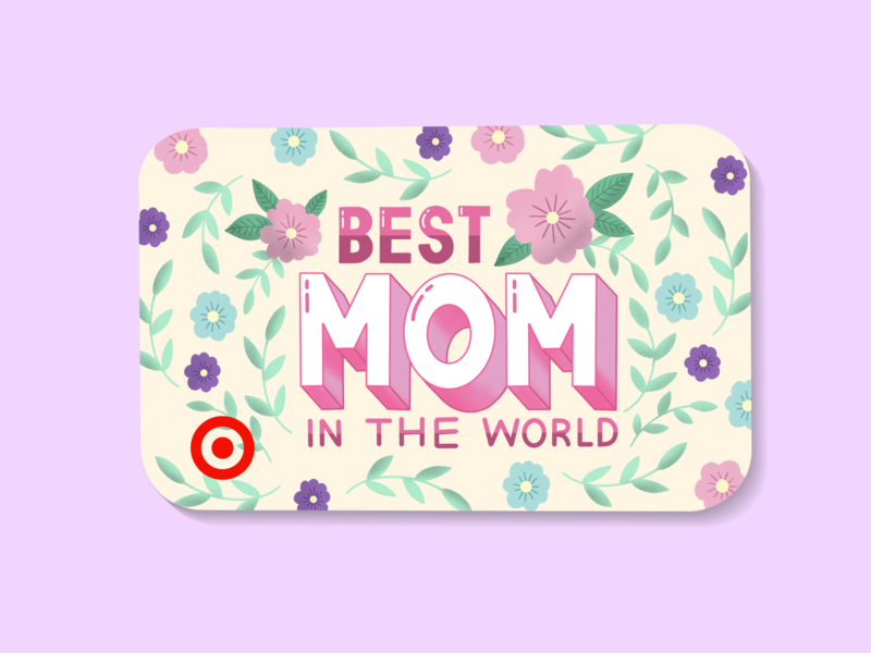Mock Up Client Project graphic designer illustrator illustration gift mothers day typography hand lettering hand drawn type lettering homwork mockup targetgiftcard giftcard target