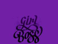 Girl boss lettering