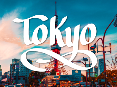 Tokyo lettering image dribbble