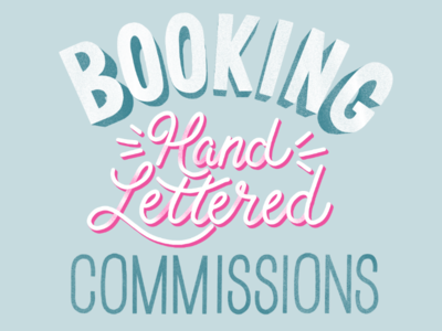 Booking Hand Lettered Commissions