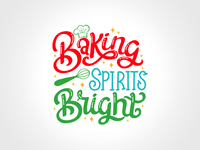 Baking Spirits Bright Lettering Preview