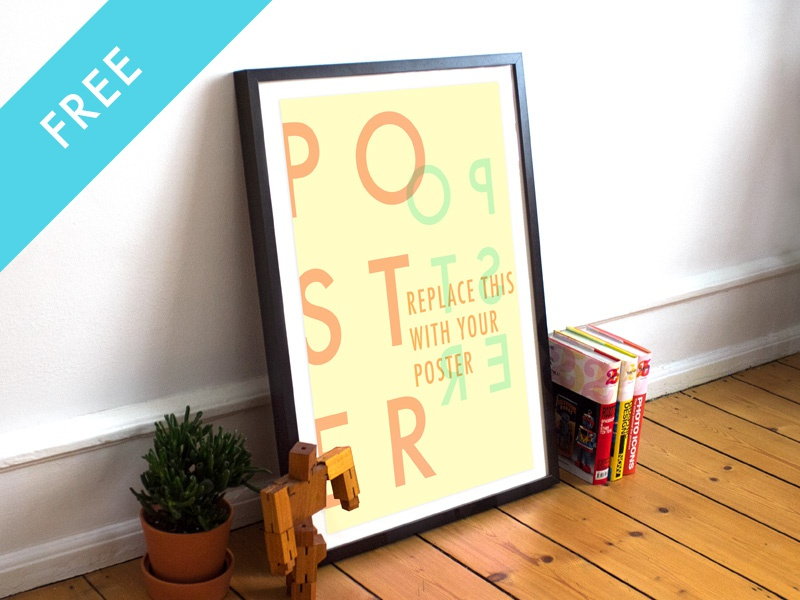 2 Free Realistic Poster/Frame Mockup realistic poster frame mock up mockup free freebie