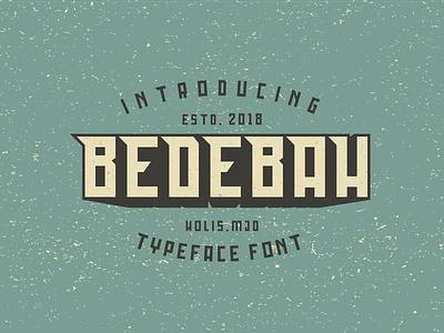 Bedebah Typeface Free Font