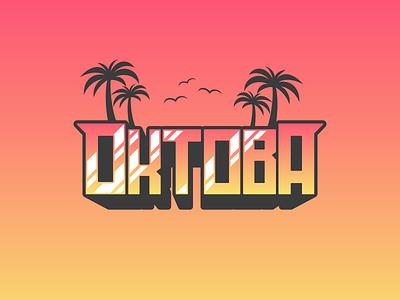 Oktoba modern classic vintage sans display typeface script illustration signature font bundle summer font awesome october hawaii miami beach art typography type font